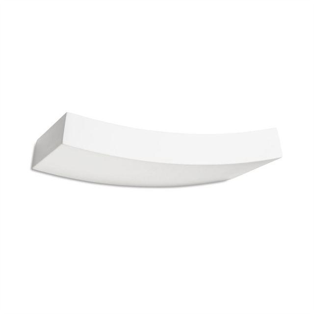 Leds C4 Applique Ges, Plâtre blanc, 36 cm