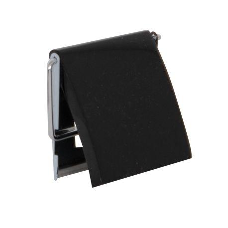msv porte rouleau papier wc noir brillant et inox pas. Black Bedroom Furniture Sets. Home Design Ideas