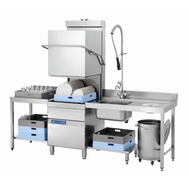 Bartscher Lave-vaisselle a capot Ds 2500eco avec pompe de vidange et doseur de detergent de lavage
