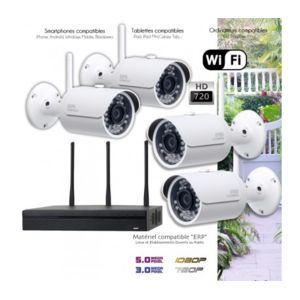 Dahua syst me de vid o surveillance wifi 4 cam ras - Kit video surveillance exterieur wifi ...