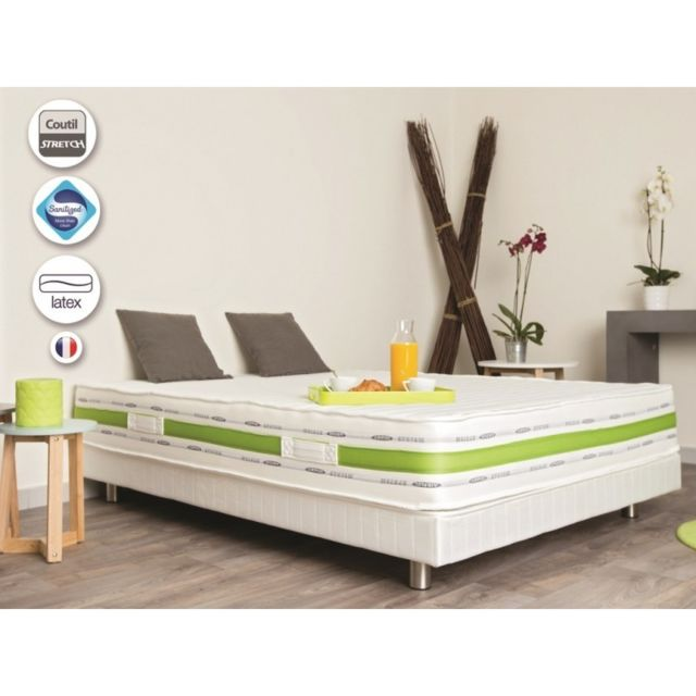 Golden Dream Matelas Bio Latex 2 Personnes 140 X 190 Cm 22 Cm
