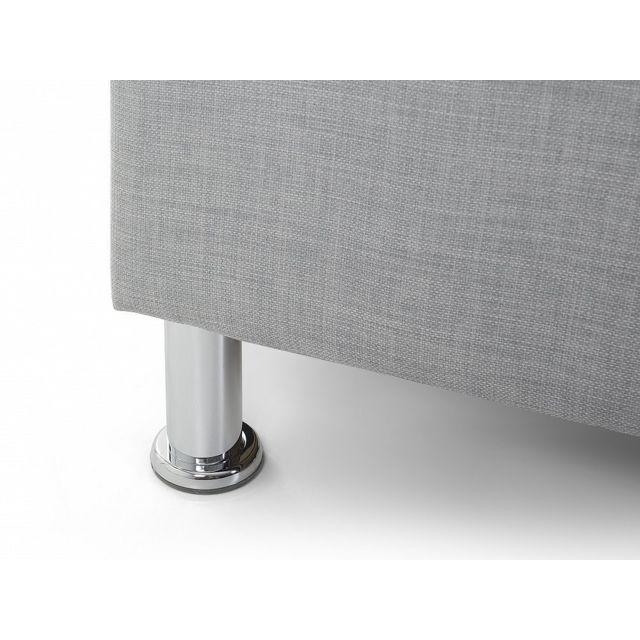 Beliani - Lit design en tissu - lit double 180x200 cm - Metz - sommier inclus - gris 215cm x N/Acm
