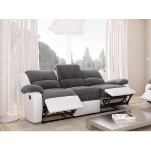 usinestreet canap relaxation 3 places microfibre grise. Black Bedroom Furniture Sets. Home Design Ideas