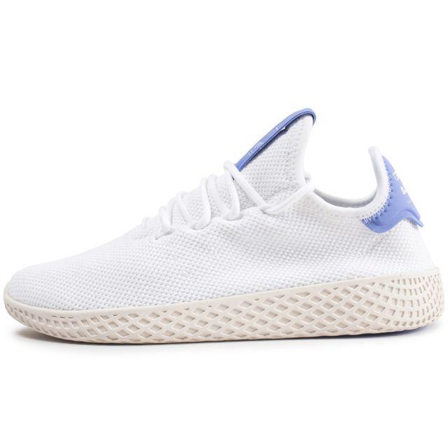 ae653811d793 Adidas originals - Pharrell Williams Tennis Hu Blanche Et Bleue Enfant