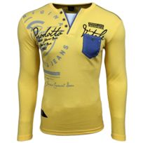 Achat Longues Manches Polo Jaune Homme TqYSaYIO