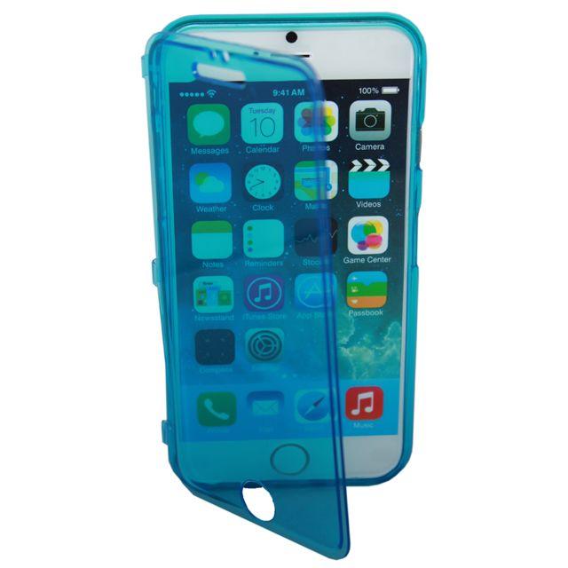 Lapinette - Coque Gel Rabat Pour Apple Iphone 6 Plus - 6s Plus - Bleu