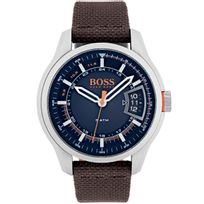 Bossorange - Montre Hugo Boss Orange en Cuir Marron