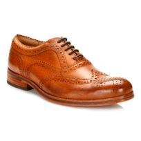 Hudson - Mens Tan Keating Shoes-UK 8