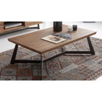Table Basse Wood Table Basse En Bois Massif 120x70x40cm