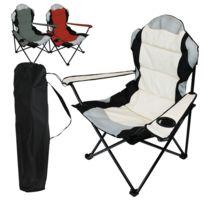 LINXOR - Chaise de camping pliable + Sac de transport