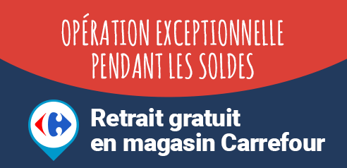 Retrait gratuit magasin Carrefour