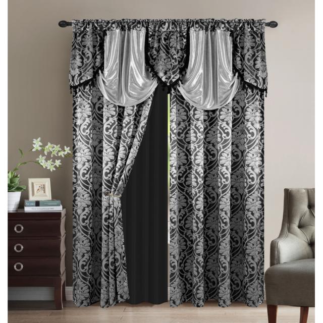 sweethome paire de rideaux oriental largeur 300 x. Black Bedroom Furniture Sets. Home Design Ideas