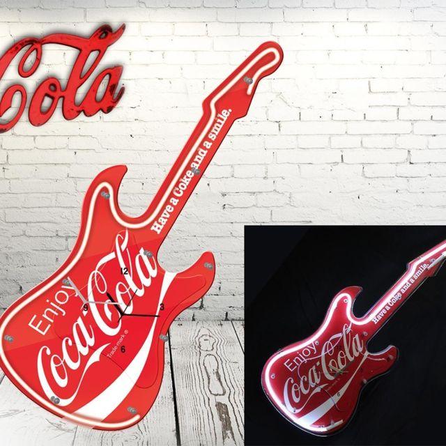 STC Pendule néon guitare COCA COLA