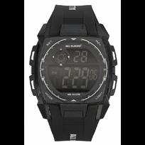 All Blacks - Montre Homme Chrono Silicone Noir 680132 Sport - 100 Mètres