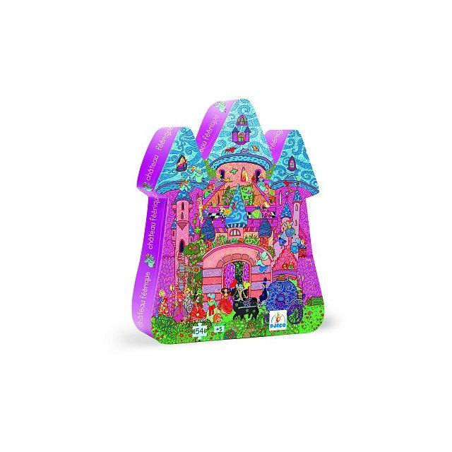 DJECO Puzzle 54 pièces - Silhouette - Château féerique