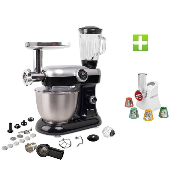 KLAISER Pack Robot Pétrin Pâtisser Multifonctions Kitchen MIX KM284MEX Professional avec Magic Hachoir Multi Express