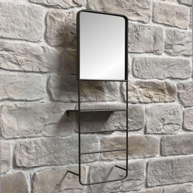 L'ORIGINALE Deco Miroir Étagère Tablette Industriel 100 cm x 35 cm x 15 cm