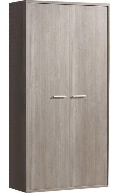 Comforium Garde-robe enfant à 2 portes design coloris bouleau gris