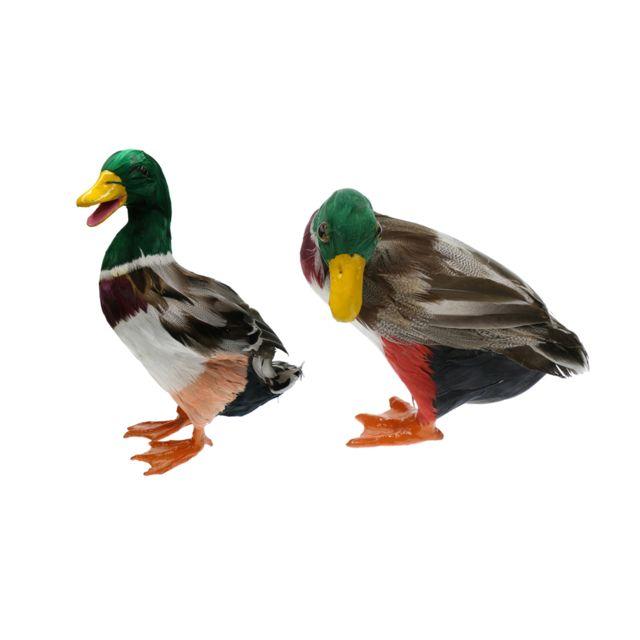 leurre de canard colvert figurines plastique