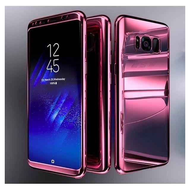 Coque Protection Intégrale Pour Samsung Galaxy S8 Plus Miroir Couleur Noir Avec Film de Protection