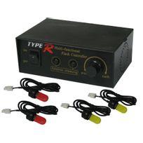 Bcelec - Stroboscope 4 ampoules / 4 couleurs interchangeables + Modes