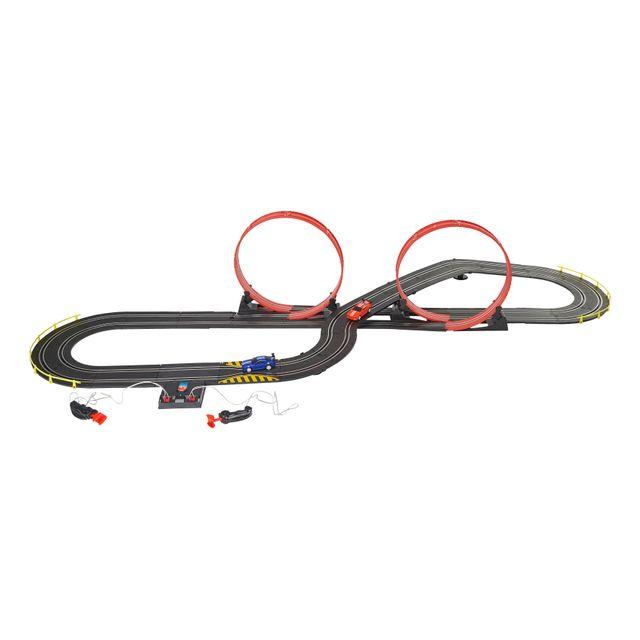 speed track circuit lectrique avec loopings et 2 voitures ty65758 pas cher achat vente. Black Bedroom Furniture Sets. Home Design Ideas