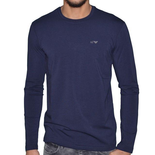 Armani - En Solde - Jeans - Tee Shirt Ml - Homme - Mini Logo Classic ... b50c62de3a1