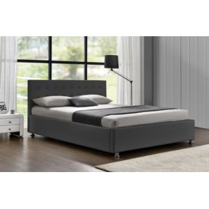 fournier decoration diva gris lit coffre 140x190 cm pas cher achat vente structures de lit. Black Bedroom Furniture Sets. Home Design Ideas