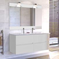 meuble salle de bain double vasque rosaly 120 blanc brillant Résultat Supérieur 17 Bon Marché Meuble Salle De Bain Noir Double Vasque Galerie 2018 Ksh4