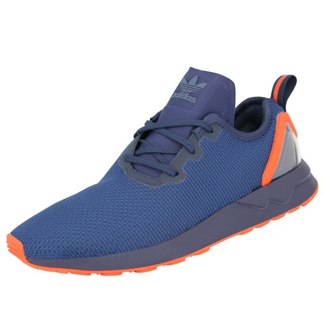 Originals ZX FLUX ADV ASYMETRICAL Chaussures Mode Sneakers Homme Bleu Orange