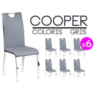 Altobuy cooper lot 6 chaises grises pas cher achat for Lot de 6 chaises grises pas cher