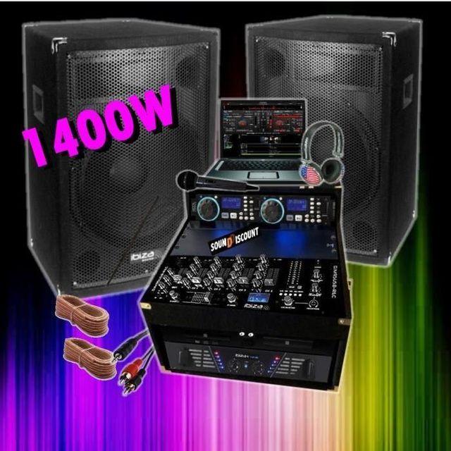 Ibiza Sound Sono 1400w - double cd - ampli enceinte mixage