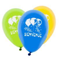 """Visiodirect - Lot de 96 Ballons Imprimé """"Bienvenue"""" coloris assortis - 31 x 22 cm"""