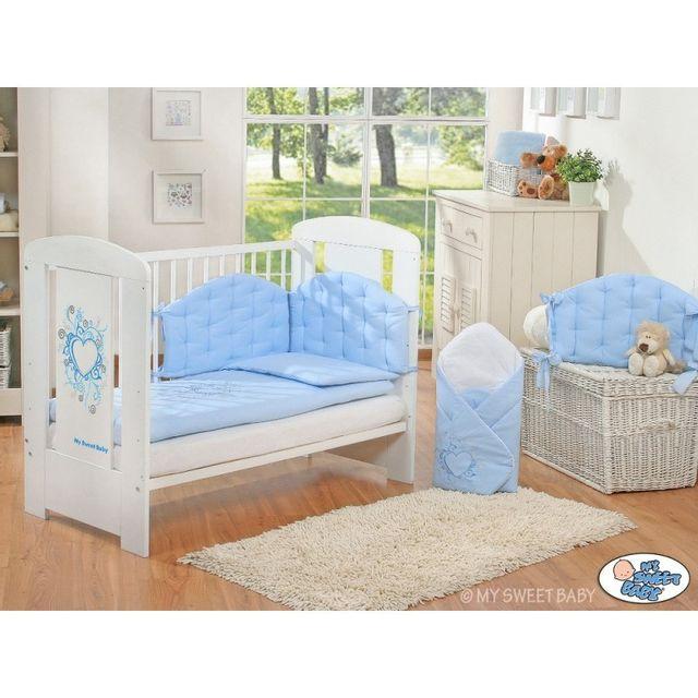 Autre Lit bébé chic bleu + parure 4 pièces