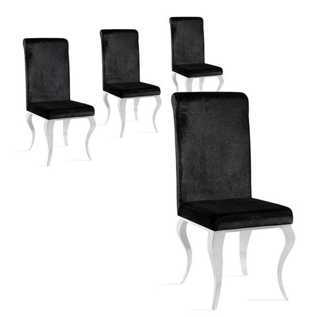 Meubler Design Lot de 4 chaises haut de gamme Ema