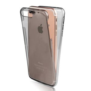 lapinette coque en gel int grale pour apple iphone 8 plus gris pas cher achat vente etui. Black Bedroom Furniture Sets. Home Design Ideas