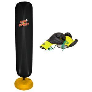 sun sport sac de frappe gonflable sur pieds avec gants. Black Bedroom Furniture Sets. Home Design Ideas