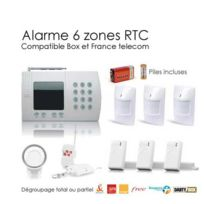 SecuriteGOODdeal - kit alarme sans fil de 6 Zones, Large Box