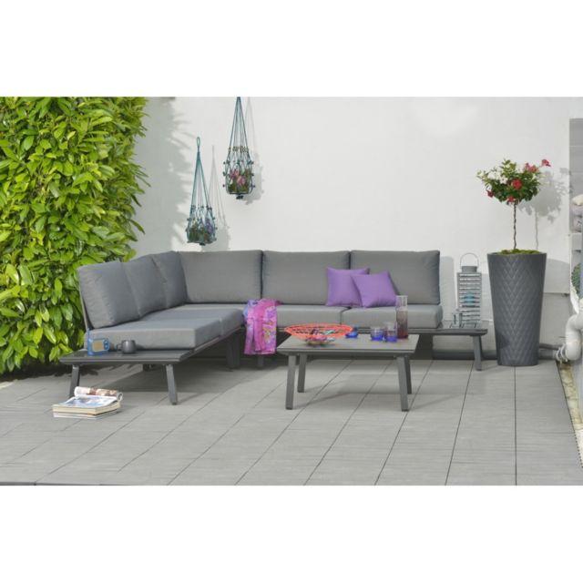 Salon de jardin bas Oxford en aluminium - pas cher Achat / Vente ...