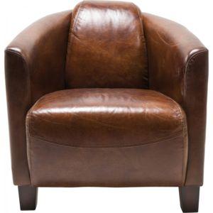 Karedesign Fauteuil Cuir Vintage Semi Cigar Lounge Kare Design - Fauteuil cuir vintage pas cher