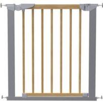 BabyDan - Barrière de sécurité Avantgarde bois/argent 53217-5790-02