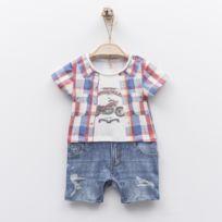 87a656372065a Sevira Kids - Combishort Barboteuse bébé garçon en coton biologique - Jules