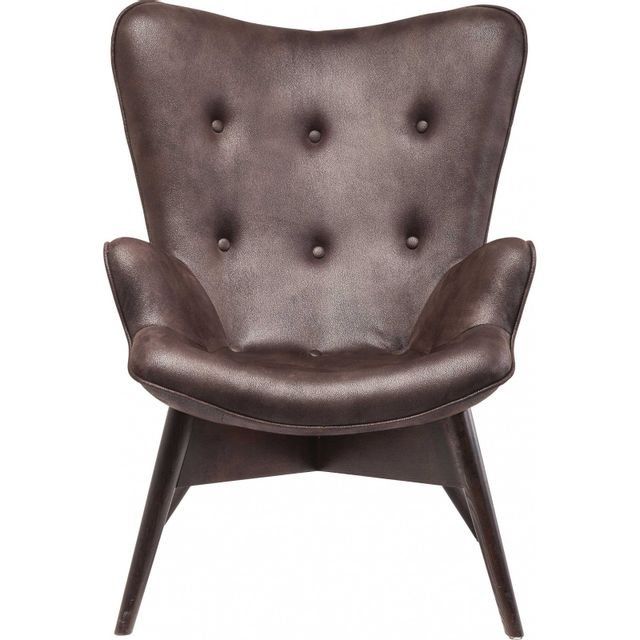 Karedesign Fauteuil Vintage Angels Wings marron foncé Kare Design