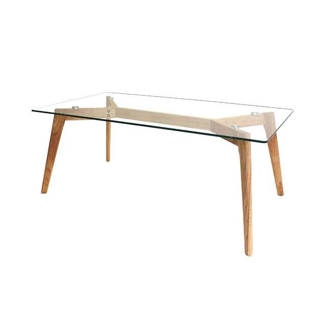 Ego Design Table basse bois et verre Island