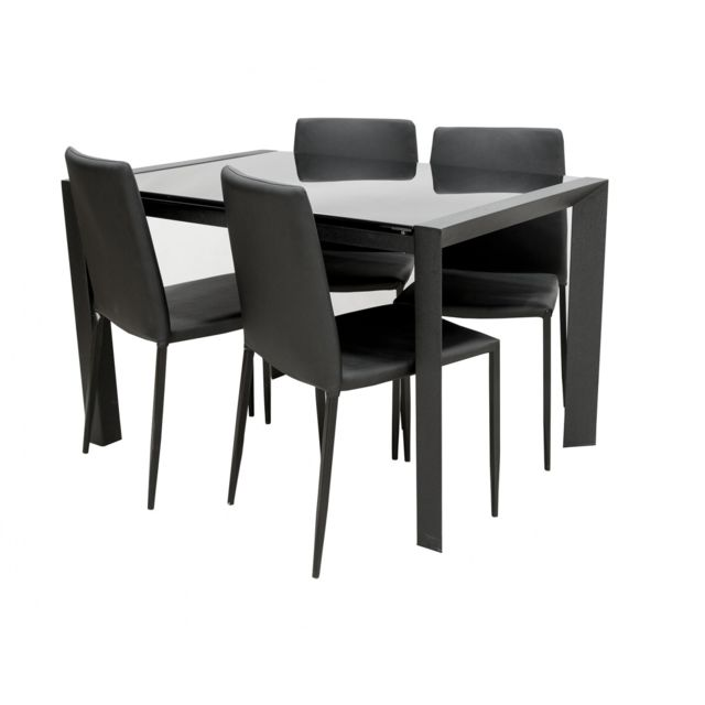 d80222f6ba0d86 Topdeco - Table extensible + 4 chaises - pas cher Achat   Vente ...