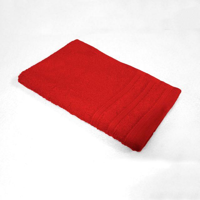 Douceur D'INTERIEUR Cdaffaires Serviette invite 30 x 50 cm eponge unie vitamine Rouge