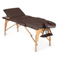 Klarfit - Mt 500 Table de massage pliante 210 cm 200 kg mousse fine -marron