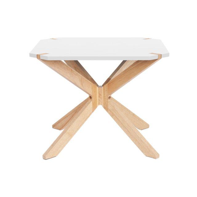 Leitmotiv Table basse scandinave Miste - L. 60 x H. 40 cm - Blanc