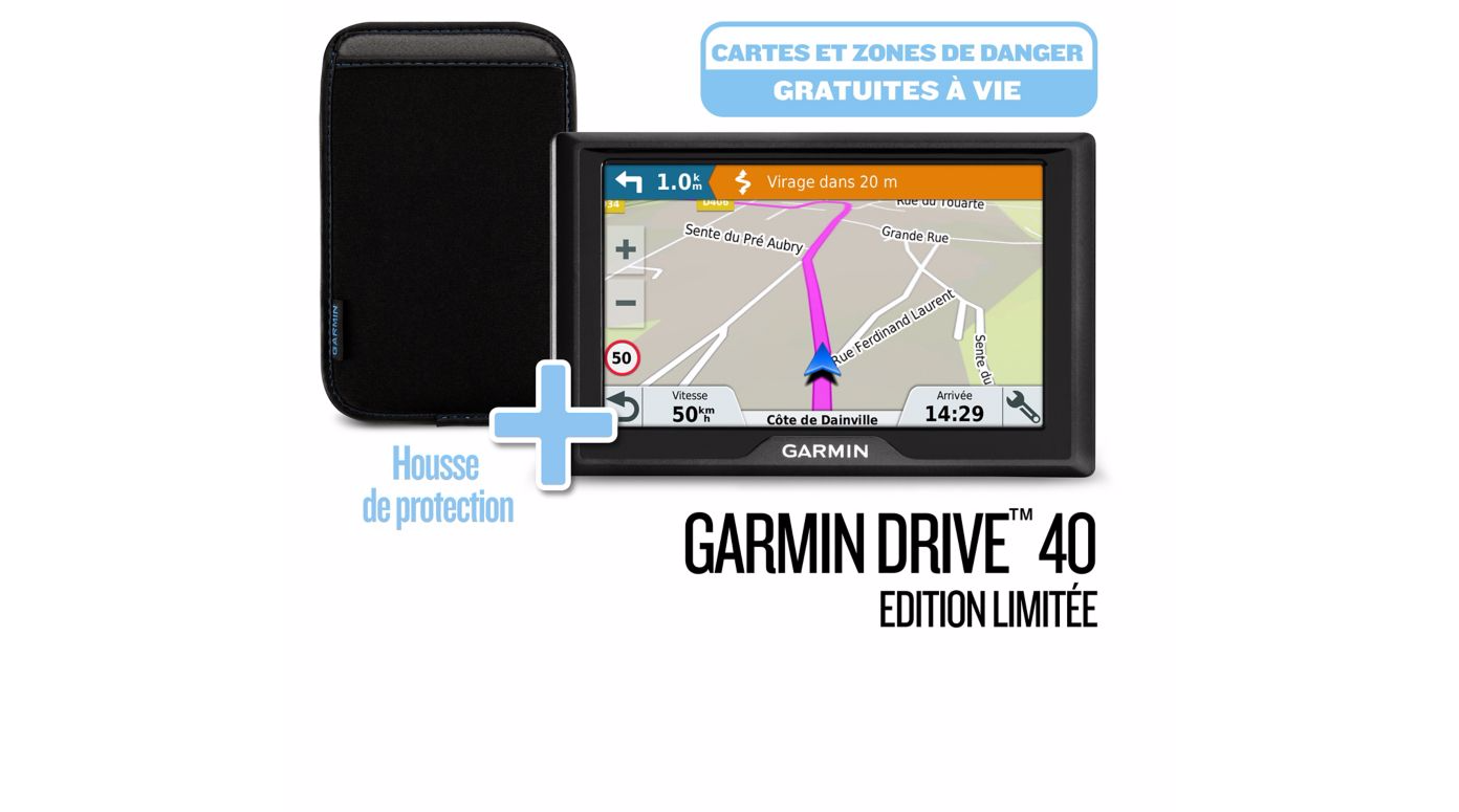 GARMIN GPS Europe Drive 40 SE LM Edition Limité - 010-01956-2J - Noir
