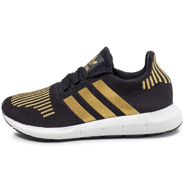d711cb6a8a Adidas - Swift Run W Noire Et Or - pas cher Achat / Vente Baskets ...